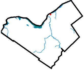 Manor Park, Ottawa - Map of Ottawa with a dot indicating the location of Manor Park