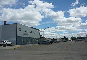 Outlook, Saskatchewan - Business District Franklin Street
