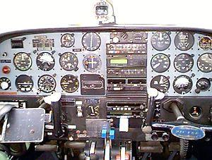 Partenavia P.68 - Cockpit of Partenavia P.68 at Jandakot Airport, Australia