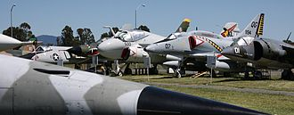 Pacific Coast Air Museum - American military jet aircraft on display