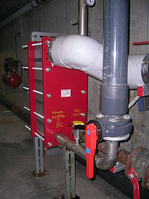 Heat exchanger - An interchangeable plate heat exchanger applied to the system of a swimming pool