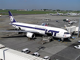 LOT Polish Airlines - LOT's acquisition of long-range Boeing 767 airliners allowed it to reposition itself as a transit airline.