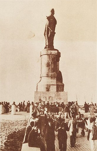 Port Said - Ferdinand de Lesseps monument on the tourist jetty