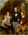 PORTRAIT OF LAURENCE DAVIDSON AND HIS THREE SONS.PNG