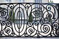 PPalais Stoclet, détail de la grille principale avec éléments du jardin..JPG