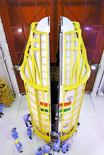 File:PSLV-C44 Microsat-R encapsulation.jpg