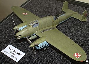PZL.38 Wilk - Paper model of PZL.38