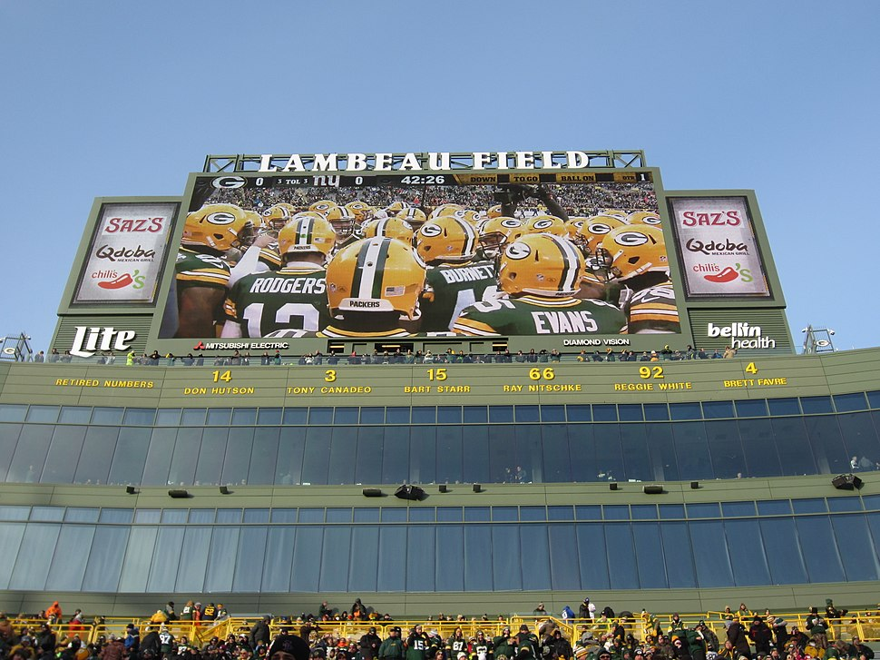 Packers Retired Numbers at Lambeau Field