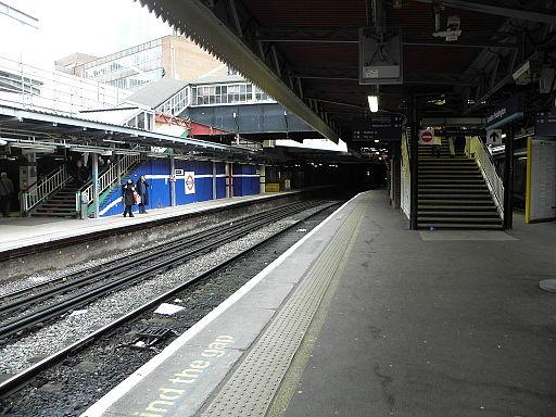 Paddington station main line platform 14 look east