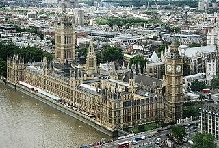 Versammlungsort des Parlamentes des Vereinigten Königreichs in London, England