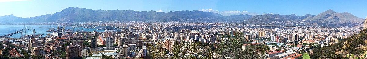 Panorama vido al Palermo el Monto Pellegrino