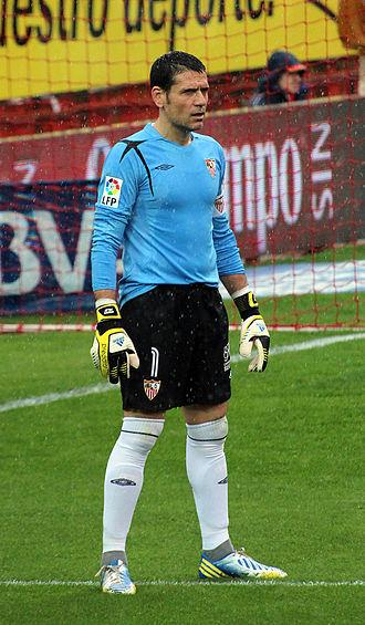 Andrés Palop - Palop during a match with Sevilla.