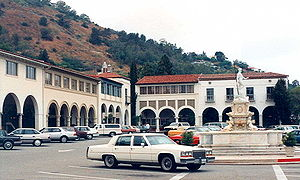 Palos Verdes Peninsula - The historic Mediterranean Revival style Malaga Cove Plaza, in Palos Verdes Estates