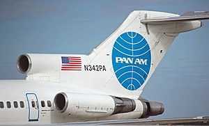 Boeing 727 - Tail section of a Pan Am Boeing 727