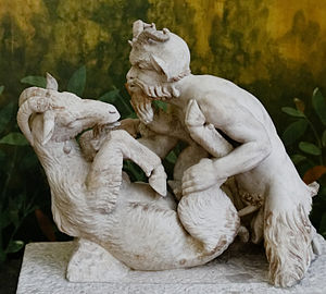 Faunus - Faunus copulating with a goat (found in Herculaneum, Italy.)