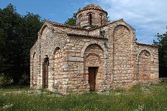 Stylos - The church of the Panagia Serviotissa