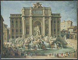 Pannini, Giovanni Paolo - Fountain of Trevi, Rome - 18th c.jpg
