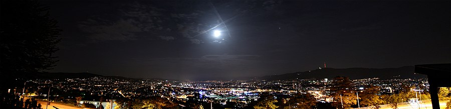 Панорама ночного Цюриха