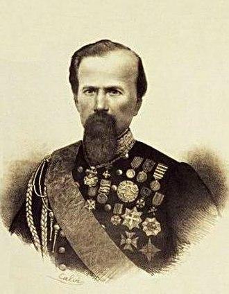 Enrico Cialdini - Image: Paolo Calvi ritratto di Enrico Cialdini litografia 1850 1860