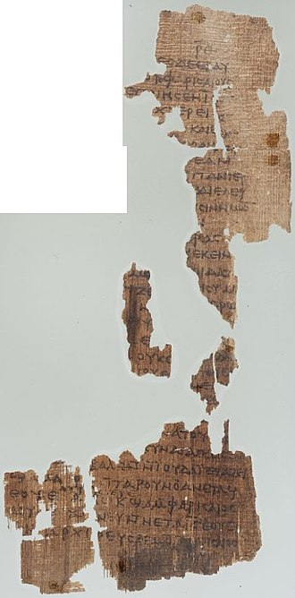 John 11 - John 11:46–52 in Papyrus 6 (c. AD 350)