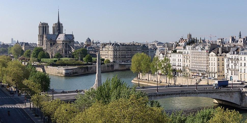 Paris ile Cite ile Saint Louis pont Tournelle