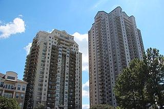 Park Towers (Sandy Springs) building complex in Sandy Springs, Georgia