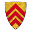 """Parliamentary Roll (Papworth N) Shield 0002 """"Le Counte de Gloucestre"""" (The Earl of Gloucester).png"""