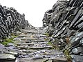 Part of the steep central section of the steps to A7 drum house - geograph.org.uk - 301728.jpg
