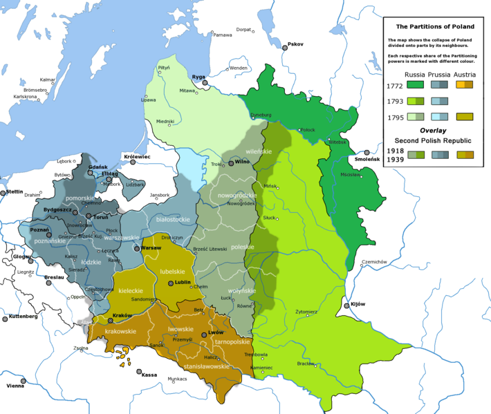 Plik:Partitioned Poland & the 2nd Republic.png