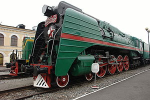 Russian locomotive class P36 - P36-0251 - the last steam locomotive built at Kolomna Works