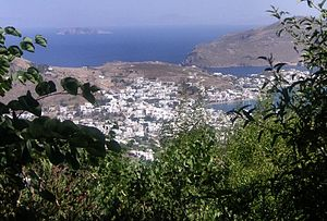 Patmos - View of the port (Skala)