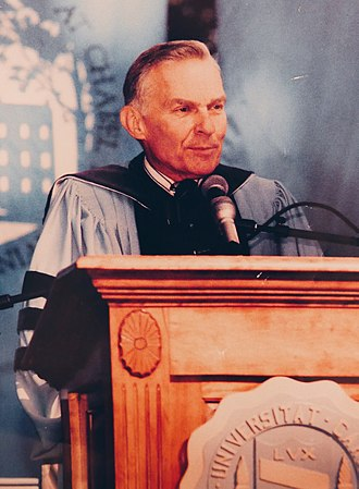Paul Hardin III - Paul Hardin III, Chancellor of the University of North Carolina at Chapel Hill, addresses the UNC community on University Day, 1993.