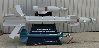 General-purpose bomb - Guidance accessories for a 500lb body and a Laser-Guided Training Round, bottom