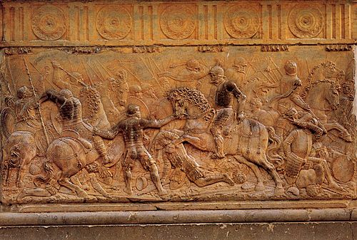 Battle of Pavia by Juan de Orea. Pavia relief.jpg