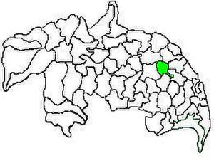 Pedakakani mandal - Mandal map of Guntur district showing   Pedakakani mandal (in green)