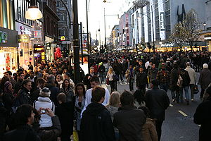 Pedestrian day on Oxford Street