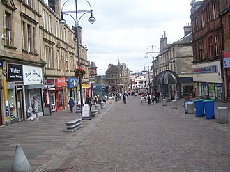 Hamilton, South Lanarkshire - Image: Pedestrianised area of Hamilton geograph.org.uk 3080407