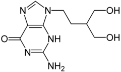 Strukturformel des Arzneistoffes Penciclovir