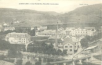 Pernod Fils - A photo of the Pernod Fils factory in Pontarlier, dated 1905.