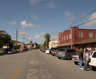 Pescadero, California - Downtown Pescadero, looking north on Stage Road