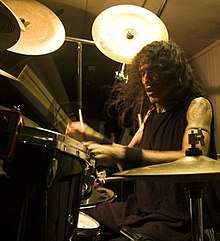 Pete Sandoval practising the drums.jpg