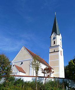 Die Pfarrkirche St. Willibald in Weihmichl