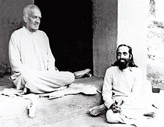 Chinmayananda Saraswati - Swami Tapovan Maharaj and Swami Chinmayananda at Uttarkashi, 1956