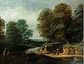 Philip van Dapels - River landscape with hikers and people gathering brushwood.JPG