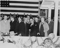 Photograph of President Truman with French President Vincent Auriol at the District Building in Washington during... - NARA - 200289.tif