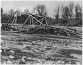 Photograph of bridge damaged by flood. - NARA - 282438.tif