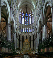 Interior Of Amiens Cathedral France