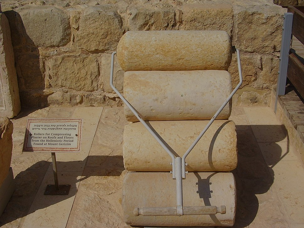 PikiWiki Israel 15076 Roller for compressing plaster from the hellenisti