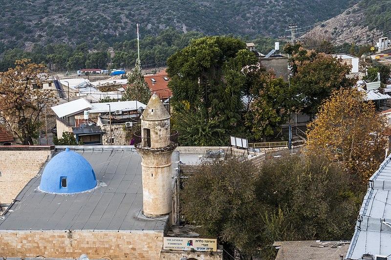 צריח מסגד השוק צפת העתיקה