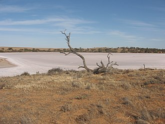 Murray-Sunset National Park - Pink Lakes (salt lakes) in the national park.